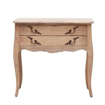 Briennon Hand Crafted Mahogany Bedside Table, Weathered Oak
