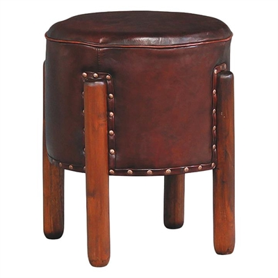Shen Leather Stool