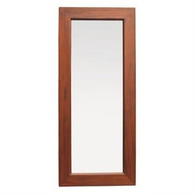 Hadley Solid Mahogany Timber Slim Floor Mirror - Mahogany by Centrum Furniture, a Mirrors for sale on Style Sourcebook