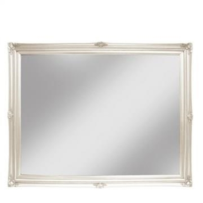 Koek Hardwood Frame Rococo Wall Mirror, Small, White