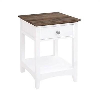 Ella Wooden 1 Drawer Bedside Table