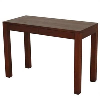 Amsterdam Solid Mahogany Timber 2 Drawer Desk - Mahogany
