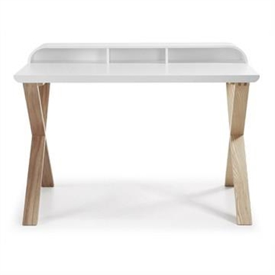 Amias 120cm Writing Desk -White/Natural by El Diseno, a Desks for sale on Style Sourcebook