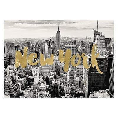 New York Gold Print Art
