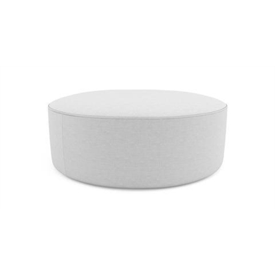 Alexa Large Round Ottoman Cloud Grey
