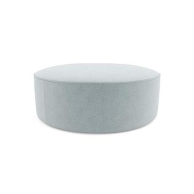 Alexa Large Round Ottoman Porcelain Blue