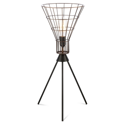 Torch Iron Wire Table Lamp