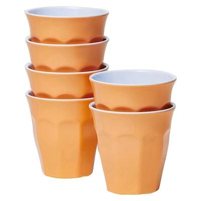 Barel Classic Melamine Tumbler, 260ml (Set of 6) Apricot B Barel Designs