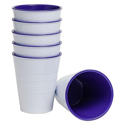 Barel Retro Melamine Tumbler, Violet, 275ml (Set of 6) Barel Designs
