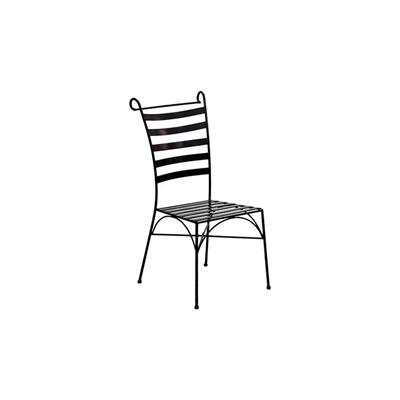 Venice Outdoor Iron Chair Metal Black Channel Enterprises