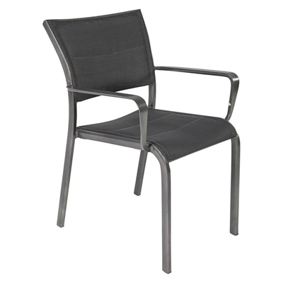 Palmero Outdoor Dining Chair, Charcoal/Grey