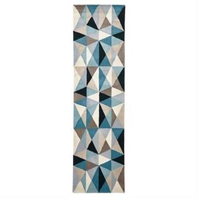 Matrix Crystal Hand Tufted Wool Runner Rug, 400x80cm