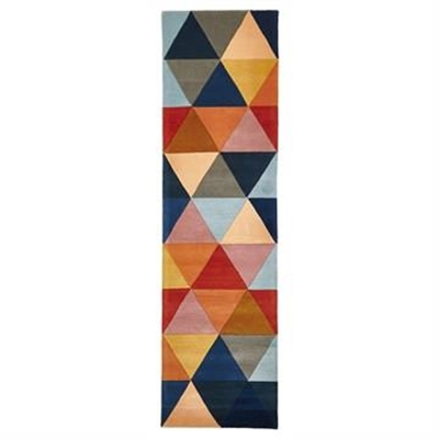 Matrix Triangles Hand Tufted Wool Runner Rug, 400x80cm
