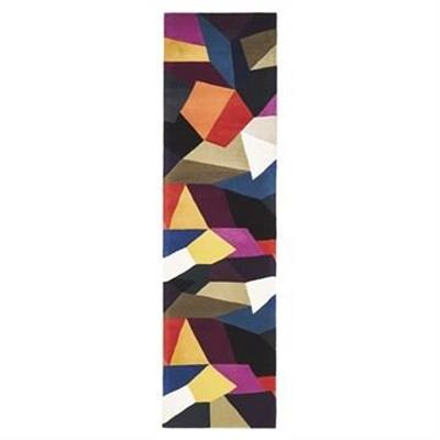 Matrix Carnival Hand Tufted Wool Runner Rug, 400x80cm