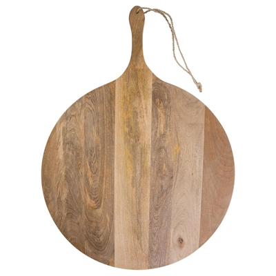 Extra Large Mango Wood Round Serving Board by April & Oak, a Platters & Serving Boards for sale on Style Sourcebook