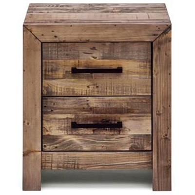 Boston Recycled Pine Timber 2 Drawer Bedside Table by Everblooming, a Bedside Tables for sale on Style Sourcebook