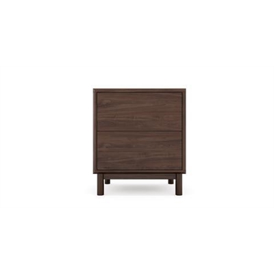 Cato Bedside Table Two Drawers Autumn Brown Solid Birch Autumn Brown by Brosa, a Bedside Tables for sale on Style Sourcebook