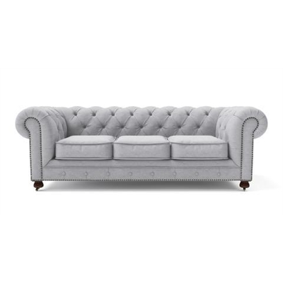 Camden Chesterfield 3 Seater Sofa Cloud Grey