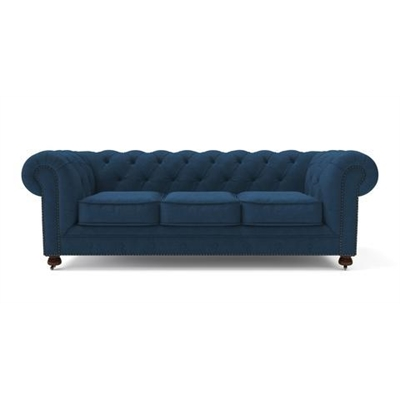 Camden Chesterfield 3 Seater Sofa Atlantic Blue by Brosa, a Sofas for sale on Style Sourcebook
