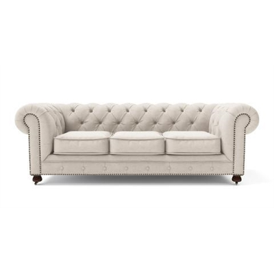 Camden Chesterfield 3 Seater Sofa Classic Cream