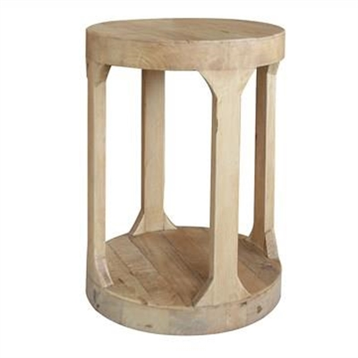 Frans Recycled Timber Round Side Table by Manoir Chene, a Side Table for sale on Style Sourcebook