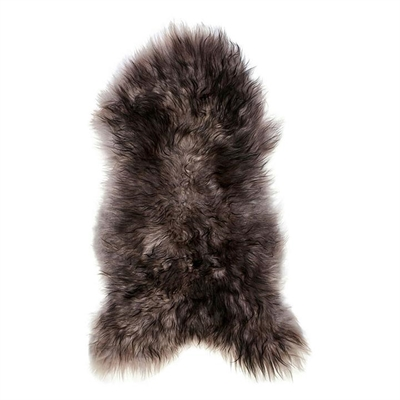 Icelandic Sheepskin Rug, Grey with Black Tips by heim & co, a Hide Rugs for sale on Style Sourcebook