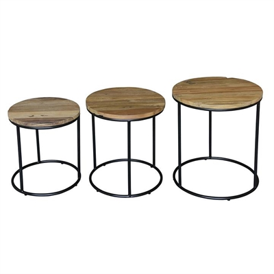 Lexington Teak Side Table (Set of 3) by Kayu Estate, a Side Table for sale on Style Sourcebook