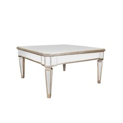 Cassidy Mirrored 96cm Square Coffee Table