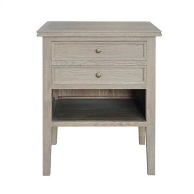 Partrack Oak Timber Bedside Table, Weathered Oak by Manoir Chene, a Bedside Tables for sale on Style Sourcebook