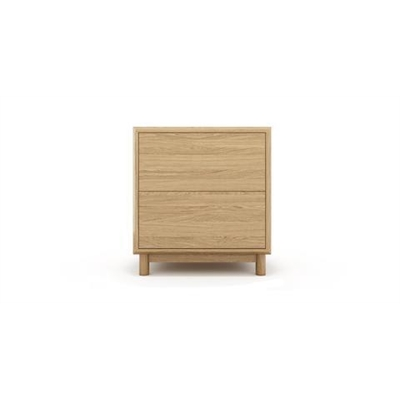 Cato Bedside Table Two Drawers California Oak Wood California Oak Wood by Brosa, a Bedside Tables for sale on Style Sourcebook