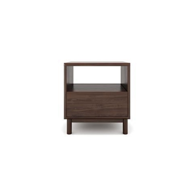 Cato Bedside Table One Drawer Autumn Brown Solid Birch Autumn Brown Wood