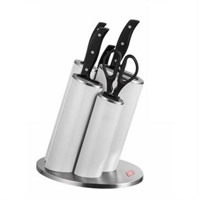Wesco Stainless Steel Asia Knife Block Set, White