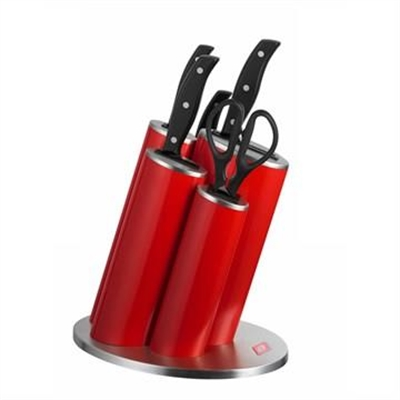 Wesco Stainless Steel Asia Knife Block Set, Red by WESCO, a Knives for sale on Style Sourcebook