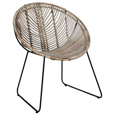Beau Rattan and Iron Leisure Chair by Centrum Furniture, a Outdoor Chairs for sale on Style Sourcebook
