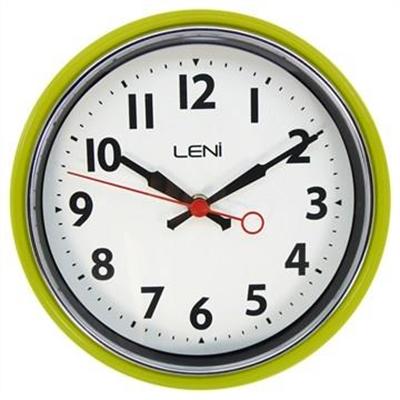 Leni Essential Metal Round Wall Clock - Bitter Lemon