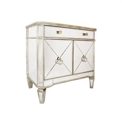 Cassidy Mirrored 2 Door 1 Drawer Accent Chest