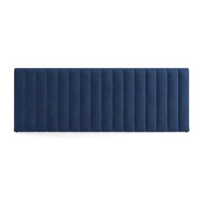 Megan Wide King Size Bed Head Ocean Blue
