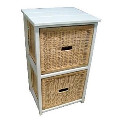 Umina 2 Cane Drawer Mango Wood Cabinet