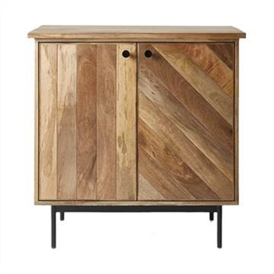 Kalvesta Solid Mango Wood Timber and Iron 2 Door 85cm Cabinet by Dodicci, a Bathroom Storage Cabinets for sale on Style Sourcebook