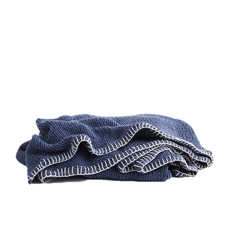 Sophia Throw - Blue / White
