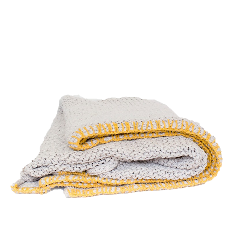 Sophia Throw - Natural / Yellow by MJG, a Throws for sale on Style Sourcebook