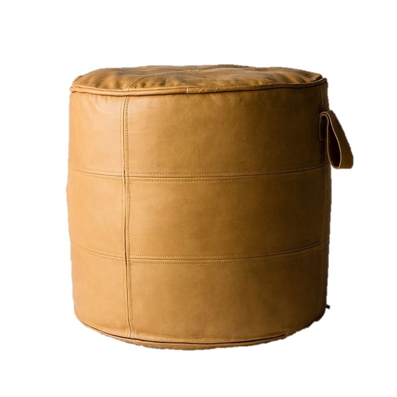 Round Leather Easy Ottoman by MJG, a Ottomans for sale on Style Sourcebook