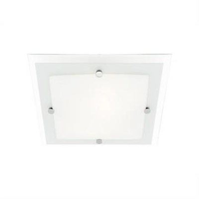 Cougar Essex 43cm 3 Light Oyster Square Ceiling Light