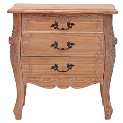 Riom Hand Crafted Mahogany Bedside Table, Weathered Oak by Millesime, a Bedside Tables for sale on Style Sourcebook