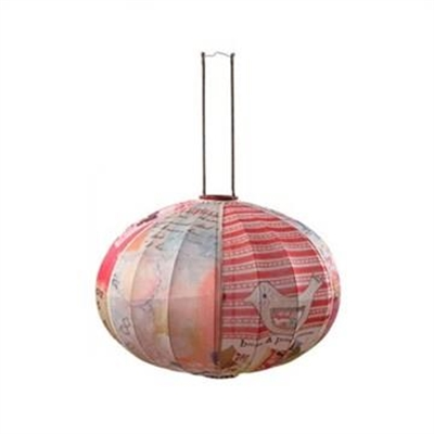 French Provincial Round Fabric Lantern - 76cm