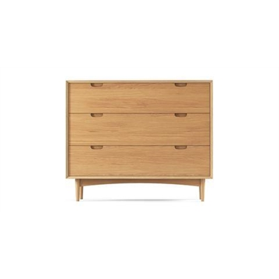Ethan Wide Chest of Drawers Scandi Oak Wood by Brosa, a Dressers & Chests of Drawers for sale on Style Sourcebook