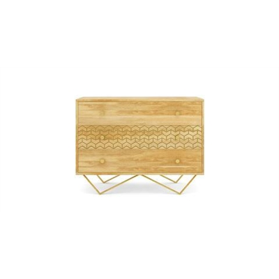 Alpina Chest of Drawers Natural Solid Mango Wood