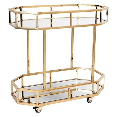 Brooklyn Drinks Trolley, Gold by CAFE Lighting & Living, a Sideboards, Buffets & Trolleys for sale on Style Sourcebook