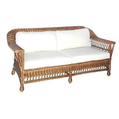 Bexley Rattan 2.5 Seater Sofa with Cushion