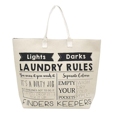 Laundry Rules Laundry Bag
